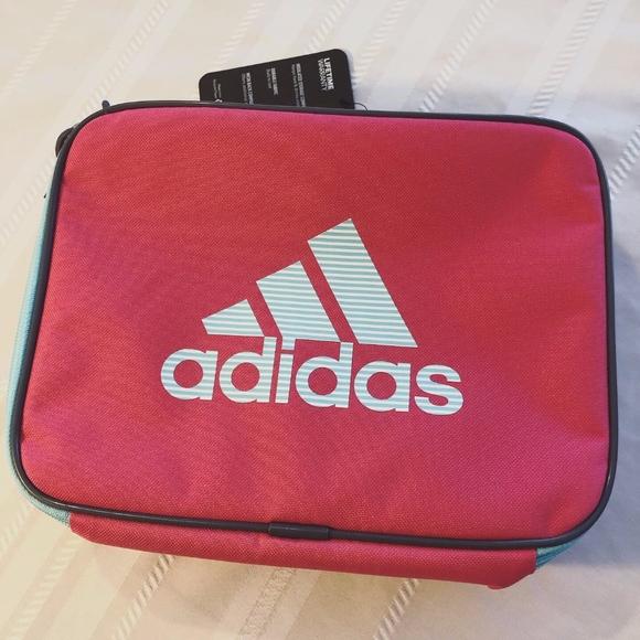 adidas Handbags - Adidas Lunch Tote Pink Blue